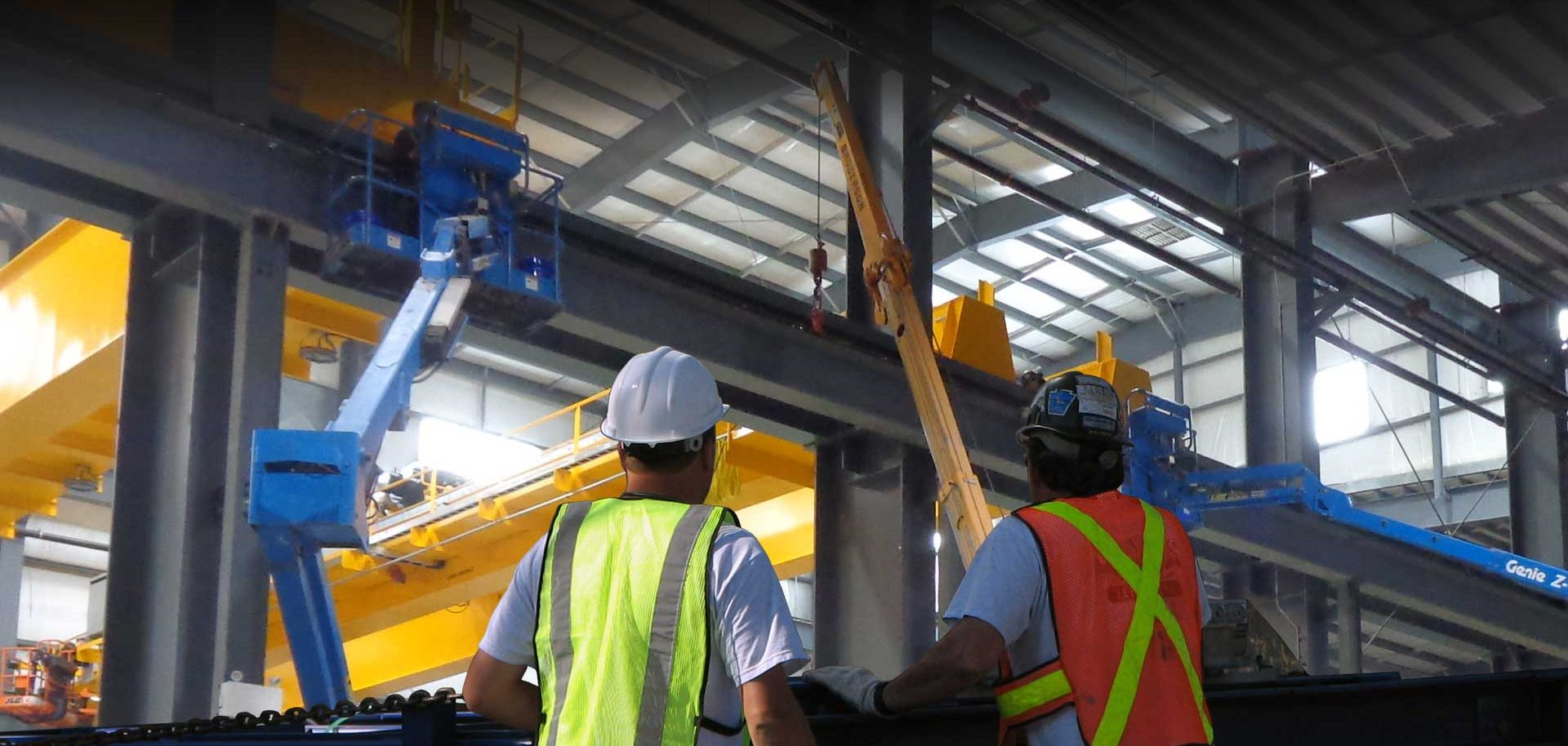 Industrial Contractors working with large crane